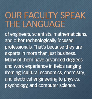 Faculty speak the language